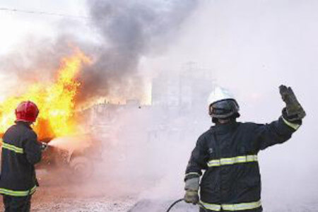 انفجار مخزن بخار در کارخانه فوم سازی شیراز