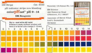 طیف رنگ درکیت ph سنج