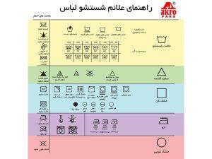 راهنمای علائم لباس